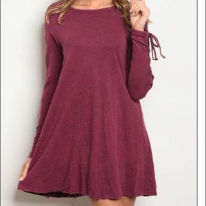 Dresses & Skirts - 8/$25 Red wine dress long sleeve brand new